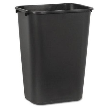 Unisan Soft Sided Wastebasket, Black, 41qt