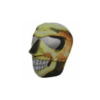 Sk Hat Shop New Flaming Skull Neoprene Winter Full Face Mask W Nose Mouth Vents