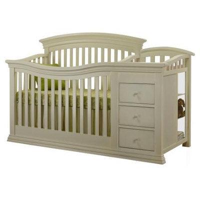 C International Sorelle Verona Crib and Changer - French White