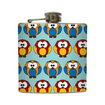 Hootie Hoo - Liquid Courage Flasks - 6 oz. Stainless Steel Flask