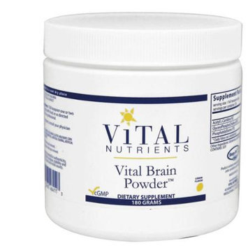 Vital Nutrient's Vital Nutrients - Vital Brain Powder Lemon Flavor - 180 Grams