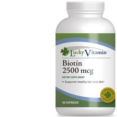 LuckyVitamin - Biotin 2500 mcg. - 60 Capsules