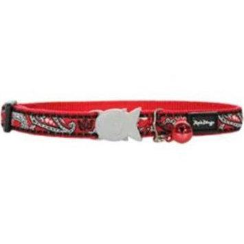 Red Dingo CC-BA-RE-SM Cat Collar Design Bandana Red