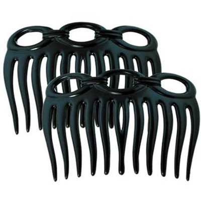 Camila Paris CP827-2 3 In. Black Hair Combs 4 Pack of 4