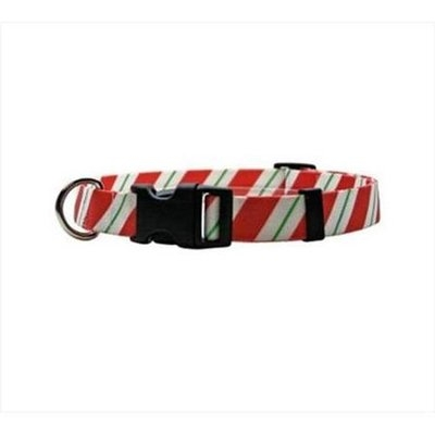 Yellow Dog Design PEP103L Peppermint Stick Standard Collar - Large