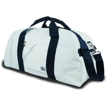 Sailorbags Sailcloth 12-Pack Soft Cooler Bag White with Blue Straps - Sailorbags Travel Coolers