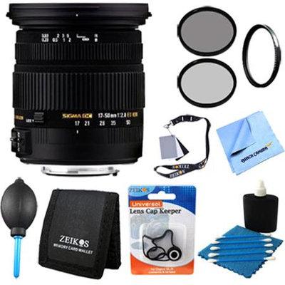 Sigma 17-50mm f/2.8 EX DC OS HSM FLD Zoom Lens for Nikon DSLR Camera - Pro Lens Kit
