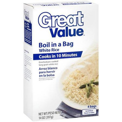 Great Value: Boil In A Bag White Rice, 14 oz