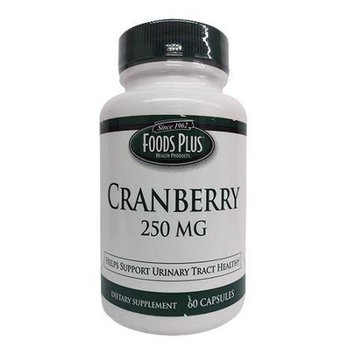 Cranberry Extract 250 Mg Capsules By Food Plus - 60 Ea