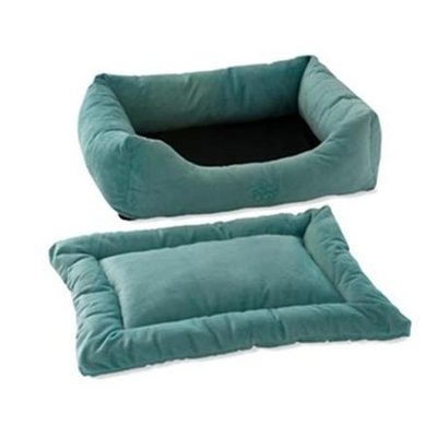 Pet Dreams 2-Piece Plush Blue Bumper Bed X-Large