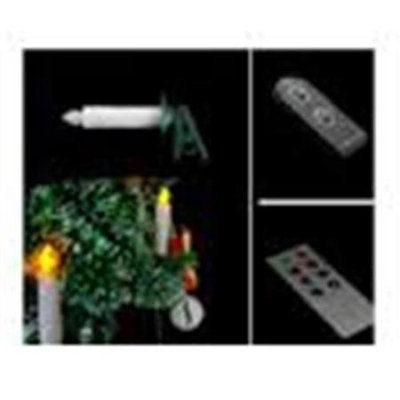 Candle Choice D-19R-P7636CT-5 Simple Remote Control Amber-Color LED Christmas Tree Candle Light Set Of 5