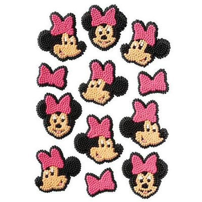 Minnie Mouse Icing Decorations Pkg/12