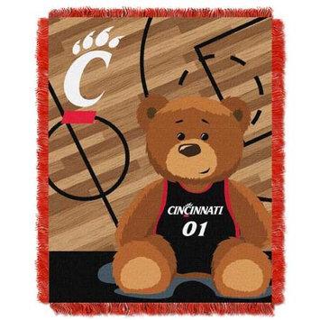 Northwest NOR-1COL044010057RET Cincinnati Bearcats NCAA Triple Woven Jacquard Throw - Fullback Baby Series - 36x48