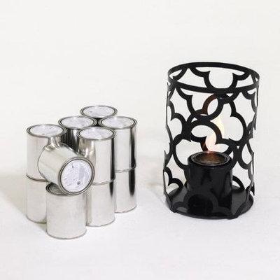 TF Essentials Mediterranean Outdoor Steel Lantern with Fuel Brushed Steel, Size: 15 x 10