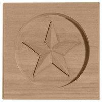 Ekena Millwork Austin Star Square Wood Rosette ROS03X03AUMA