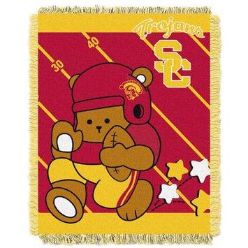 Northwest NOR-1COL044010068RET USC Trojans NCAA Triple Woven Jacquard Throw - Fullback Baby Series - 36x48