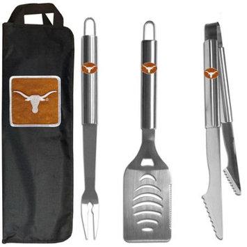 Siskiyou Buckle Co., Inc. NCAA 3 Piece BBQ Tool Set with Bag - Texas Longhorns