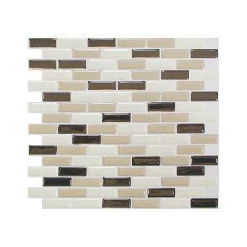 Smart Tiles Vinyl: 9.13 in. x 10.25 in. Peel and Stick Murano Dune Mosaik (6-Pack) SM1035-6