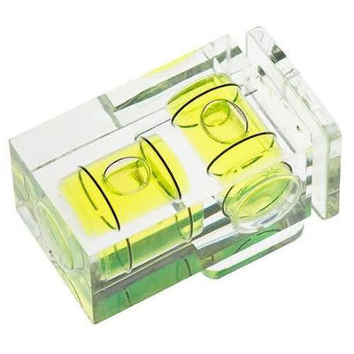 Polaroid Hot Shoe Two Axis Double Bubble Spirit Level For Canon & Nikon Digital and Film Cameras