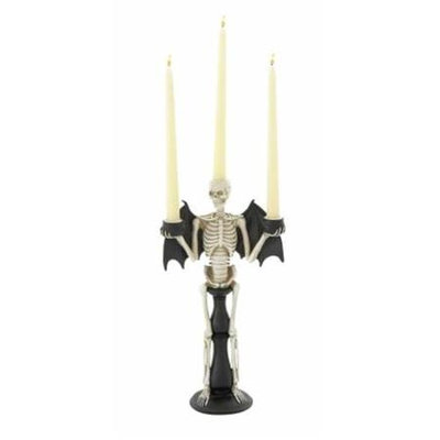 Benzara 76667 Spooky Skeleton Themed Candle Holder