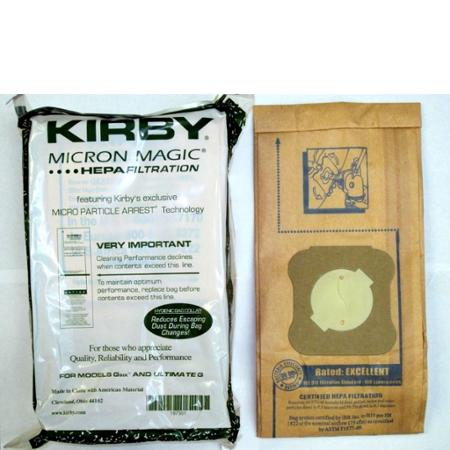 Kirby Part#197301 - Genuine Kirby HEPA Filtration Vacuum Bags Model G6 and Ultimate G (9 Bags & 1 belt)