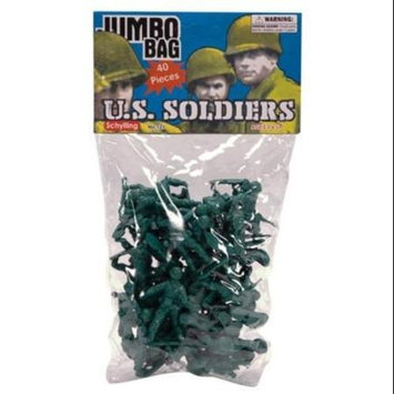 Schylling Green Army Men - 40 Piece Bag