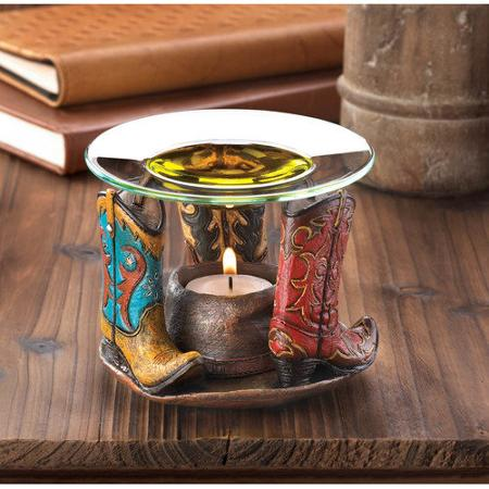 Sunrise Western Cowboy Boots Oil Warmer 4