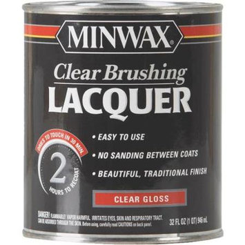 Minwax Co Inc 15500 Clear Brushing Lacquer Gloss-Quart Interior - Oil-Based Clea
