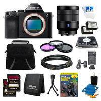 Sony Alpha 7 a7 Digital Camera, 24-70mm Lens, 2 64GB SDHC Cards, 2 Batteries Bundle
