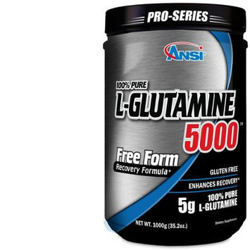 ANSI - L-Glutamine 5000 - Free Form Recovery Formula - Enhanced Recovery (1000g)