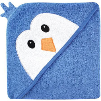Baby Vision Luvable Friends Animal Face Hooded Terry Towel - Blue Penguin