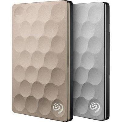 Seagate - Backup Plus Slim Ultra 1TB External USB 3.0 Portable Hard Drive - Platinum