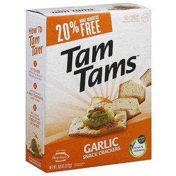 Manischewitz Tam Tams Garlic Snack Crackers, 9.6 oz (Pack of 12)