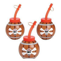 Fun Express 13631456 Pirate Cups with Lids & Straws