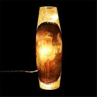 DecorFreak Long Cream Glass Jar - - Santa & Lamp