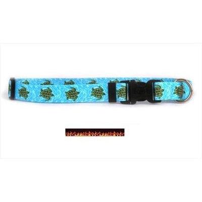 Yellow Dog Design RF102M Red Flames Standard Collar - Medium