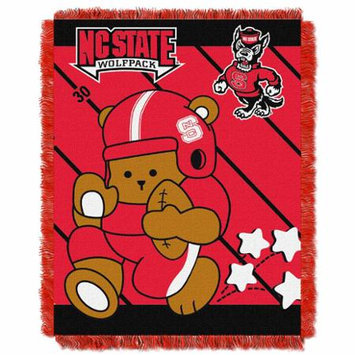Northwest NOR-1COL044010080RET North Carolina State Wolfpack NCAA Triple Woven Jacquard Throw - Fullback Baby Series - 36x48