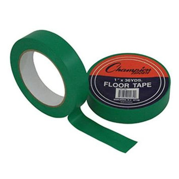 Champion Sports Floor Tape, 1in. x 108ft, Green