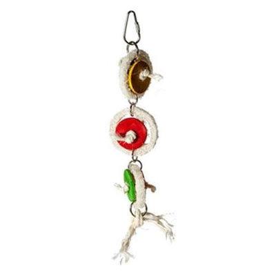 Caitec 842 7 x 2 in. Loofa Wheelies Hanging Toy Small