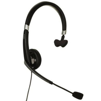 Jabra UC Voice 550 Mono USB Headset w/Noise-Canceling Boom Microphone & In-Line