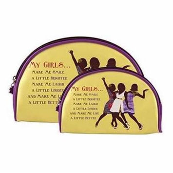 Africanamericanexpressions My Girls 2 Piece Cosmetic Bag Set