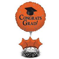 Orange Grad Balloon Centerpiece