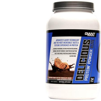 Giant Sports Delicious Elite Powder, Peanut Butter Chocolate, 2 Pound