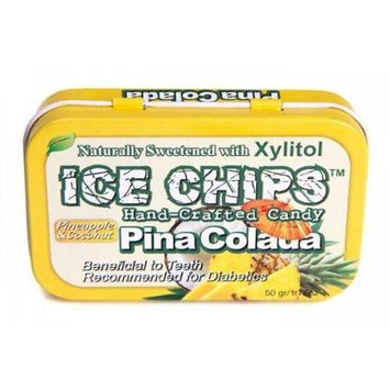Hand Crafted Candy Tin Pina Colada Ice Chips Candy 1.76 oz Candy