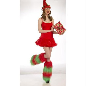 Forum Novelties Christmas Furry Costume Leg Warmers: Green & Red One Size Fits Most