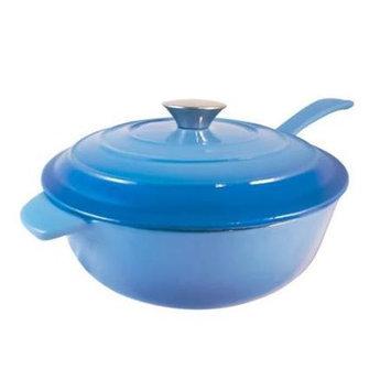 Le Chef Enamel Cast Iron Blue Sauce Pan 3-Qt.