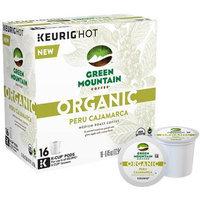 Keurig K-Cup Pod Organic Green Mountain Coffee Organic Peru Cajamarca Medium Roast Coffee - 16-pk. (Cocoa/Caramel/Green)