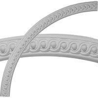 Ekena Millwork Milton Running Leaf 2-in x 54.25-in Quarter Polyurethane Ceiling Ring CR55MI