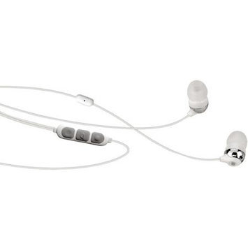 Scosche HP155MW Noise-Isolation Earbuds with tapLINE II and Microphone, White