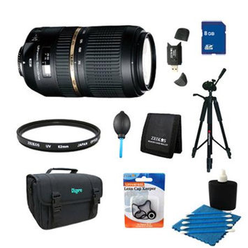 Tamron AF 70-300mm f/4.0-5.6 SP Di VC USD XLD Lens Pro Kit for Canon EOS